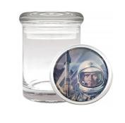 Vintage SciFi Space Man Retro Medical Odourless Glass Jar