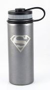 Superman 530ml Insulated Water Bottle, Stainless Steel, Wide Mouth Double Walled Vacuum Insulated Bottle for Hot and Cold Beverages