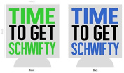 Get Schwifty - Rick and Morty | Set of Two (2) Funny Novelty Can Cooler Coozie Coolie Huggie - Rick Morty Theme | Beer Beverage Holder - Beer Gifts Home - Neoprene No Fade Can Cooler