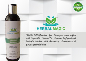 VITENRICH- 100% PURE & NATURAL SLS ( Sodium Laureate Sulphate) & PARABEN FREE SHAMPOO - POWERPACKED WITH ALOEVERA, SWEET ALMOND OIL, ARGAN OIL & FIVE ESSENTIAL OIS - MAGIC OF HERBS ONLY BY HERBAL MAGIC