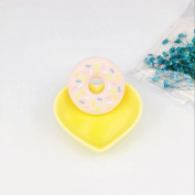 INCHANT Silicone Chewable Donut Teether, Baby Natural Nursing Teething Toy, BPA Free Food Grade Silicone, Pink