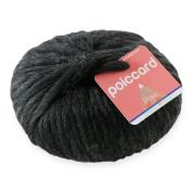 Wool Knitting Chunky Yarn – Prae – 200g 100% Chunky Yarn – Dark Charcoal Grey Wool Knitting Yarn 200g 15 mm Chunky Knit – Grey – Black