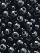 The Bead and Button Box- 400+ Shiney Black Glass Pearl Beads. 4mm. Ideal for jewellery making and lots of other crafts