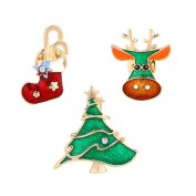 Skyeye Christmas Series Brooches Set Christmas Brooches and Pins for Kids Men Women Xmas Gift Party