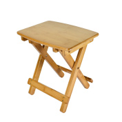Geboor Folding Bamboo Stool Portable Picnic Stool Fishing Stool Large Size for Kids and Adults