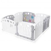 Baby Vivo Baby Plastic Playpen Foldable Portable Room Divider Child Kids Barrier Expandable for Indoor and Outdoor Judy New