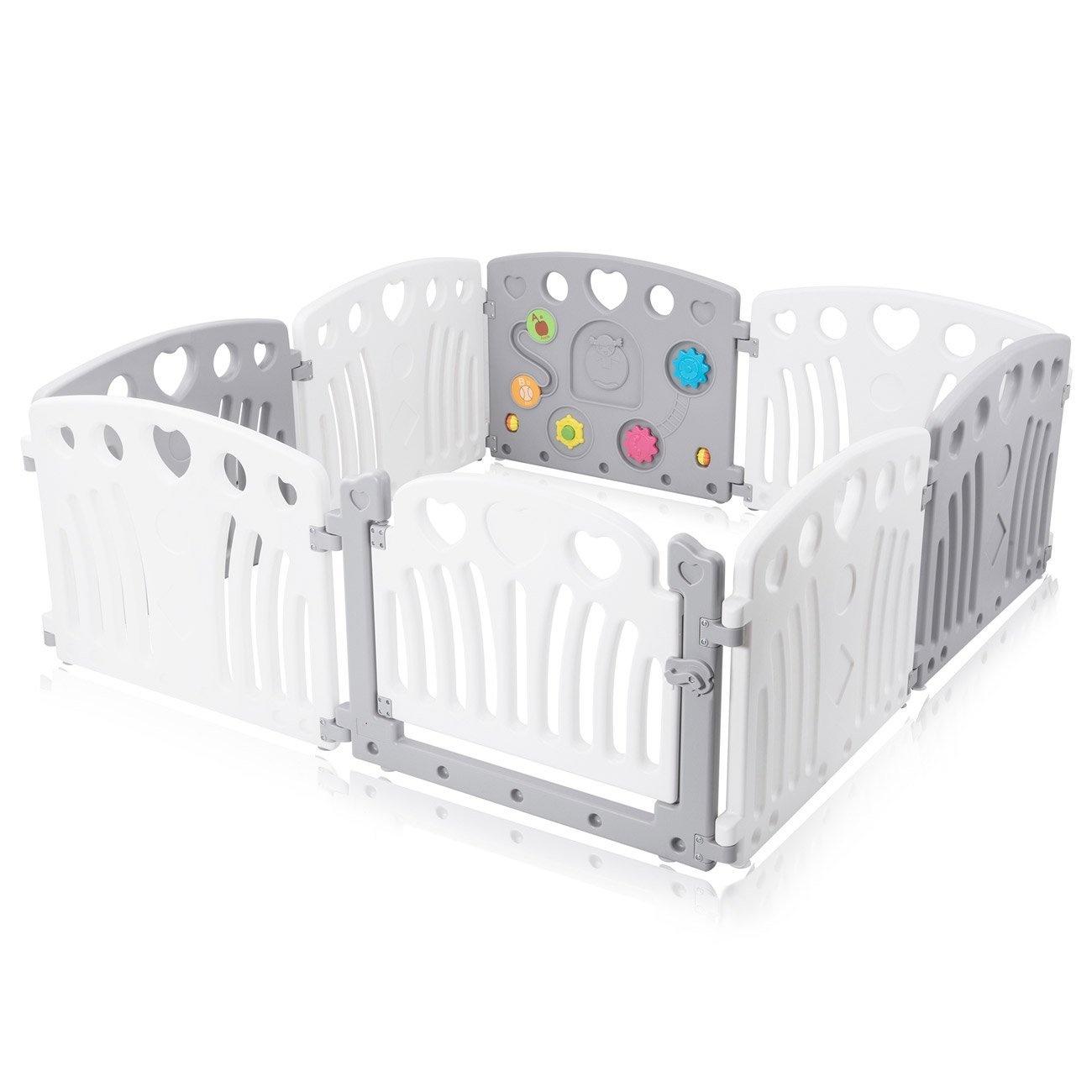 Baby Playpen Foldable Plastic Portable Room Divider Play Pen Flexible Baby Vivo
