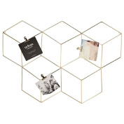 Living & Co Wall Art Gold Geo 3D with Clips 66cm x 3.5cm x 45cm