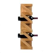 Wall Mounted Wine Rack, Wood Kitchen Decorative Small Wood Wine Rack