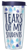 Tears of my Students Clear 470ml Mug Tumbler Cup with Navy Lid