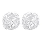 2PCS 925 Sterling Silver Star Beads for European Bracelet Necklace Jewellery Making 11mm