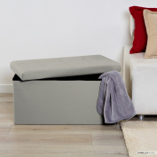 Smart Puff Storage Beanbag Colour Smooth Grey Pearl