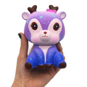 2018 Newest Slow Rising Squeeze Toys, Toamen 10cm Galaxy Deer Scented Squishy Charm Slow Rising Simulation Kid Toy Key Cell Phone Pendant Strap Gift Home Décor