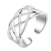 Youkara Hollow Adjustable Ring for Teen Girls Women Engagement Wedding Rings Jewellery