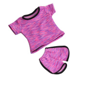 For 46cm Doll's Uniform Set Clothes Accessories, UPXIANG Handmade Lovely Fashion Doll's Sportswear Casual T-shirt Pretty Dress Pyjamas Outfit for 46cm Our Generation American Girl Doll Toy