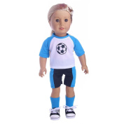 46cm Doll Clothes,HARRYSTORE Basketball Football Sport Outfit Clothes Fits for 46cm Our Generation American Girl Doll Boy Doll And Other 16 - 46cm Dolls