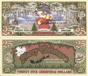 Novelty Dollar Santa Claus Merry Christmas 25 Dollar Bills x 4 Tis The Season To Be Jolly Gift