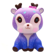 Squishy Toys, Quistal Slow Rising Squishies Jumbo Soft Squishy Galaxy Deer Cream Scented Toys Key Cell Phone Pendant Strap Gift