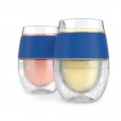 Cool Cup, Host Wine Freeze Blue Double Wall Insulated Cool Pint Glasses