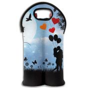 Wine Tote Carrier Bag Valentines's Day Lover Purse For Champagne,Water Bottles