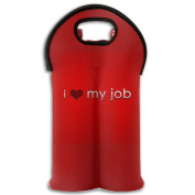 Wine Tote Carrier Bag Valentines's Day I Love Job Purse For Champagne,Water Bottles