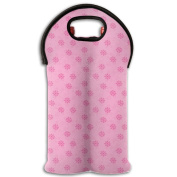 Wine Tote Carrier Bag Valentines's Day Little Floras Purse For Champagne,Water Bottles