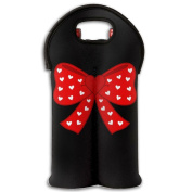 Wine Tote Carrier Bag Love Bow Red Purse For Champagne,Water Bottles