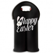 Wine Tote Carrier Bag Happy Easter Egg Purse For Champagne,Water Bottles