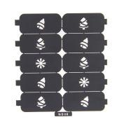 Nizi Jewellery For 3D Nails Art Polish Hollow Stencils Stickers Beauty Decals Multipurpose Cut Colour Ns06