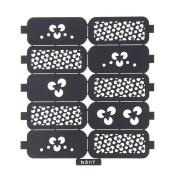 Nizi Jewellery For 3D Nails Art Polish Hollow Stencils Stickers Beauty Decals Multipurpose Cut Colour Ns07