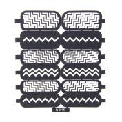 Nizi Jewellery For 3D Nails Art Polish Hollow Stencils Stickers Beauty Decals Multipurpose Cut Colour Ns15