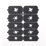Nizi Jewellery For 3D Nails Art Polish Hollow Stencils Stickers Beauty Decals Multipurpose Cut Colour Ns26