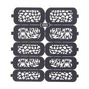 Nizi Jewellery For 3D Nails Art Polish Hollow Stencils Stickers Beauty Decals Multipurpose Cut Colour Ns33