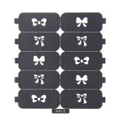 Nizi Jewellery For 3D Nails Art Polish Hollow Stencils Stickers Beauty Decals Multipurpose Cut Colour Ns12