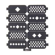 Nizi Jewellery For 3D Nails Art Polish Hollow Stencils Stickers Beauty Decals Multipurpose Cut Colour Ns11