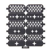 Nizi Jewellery For 3D Nails Art Polish Hollow Stencils Stickers Beauty Decals Multipurpose Cut Colour Ns16