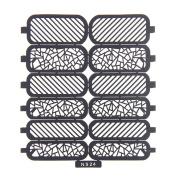 Nizi Jewellery For 3D Nails Art Polish Hollow Stencils Stickers Beauty Decals Multipurpose Cut Colour Ns24