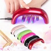Nail Care 9W Women Fashion USB LED Lamp Light For Nail Dryer Nail Art Tools 8 Colours