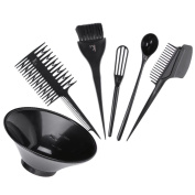 Vanpower 6pcs Hair Dyeing Tools Kits DIY Hairdressing Colouring Styling Set