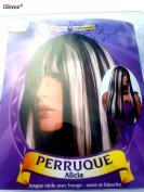 Alicia Long Straight Wig with Fringe black & white – Truer Than Nature. It Will Look Good On You. Adult Entertainment and Article – Not Suitable For Under 14. Attention Please Stay a fire and a strong heat source