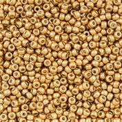 Miyuki Size 8/0 Seed Beads Duracoat Galvanised Gold 22g