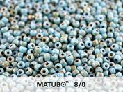 8/0 Matubo - 10 Gr (About 300 Pcs), Czech Glass Seed Beads 3.1mm Colour