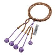 Umetake Buddhist prayer beads for men Nichiren juzu jujube wood and Light purple woven balls Buddha rosary Nenju pouch free of charge