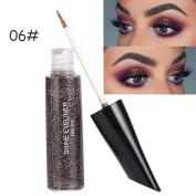 HKFV FaRRES Amazing Fashion Colour Design Eye Shiimer Eyeshadow Eyes Makeup Set Powder Liquid Eyeliner Long Lasting Shadow Makeup