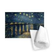 """'Art247 WAXIR60960TT Printed Tea Towel – 46 x 70 cm 100% Cotton with Motif """"The Starry Night, 1888 (Oil on Canvas) by Vincent van Gogh"""""""