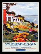 "National Railway Museum ""Southend-on-Sea (4)"" Framed Print, Multi-Colour, 30 x 40 cm"