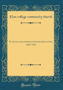 Elon College Community Church Bulletin, 1958-1960