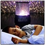 Zantec Colourful Twilight Romantic Sky Star Master Projector Lamp Starry LED Night Light Kids Bedroom Bed Light for Christmas Light