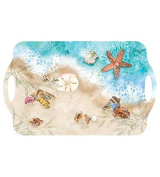 Melamine Serving Trays Plastic Trays Party Trays Food Trays Bed Tray 18.75 x 11.5 Nautical Decor Waters Edge