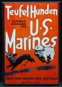 USMC WWII Recruitment Poster Refrigerator Magnet. Devil Dog Recruiting Station